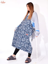 Cookman(クックマン) エプロン COOKMAN クックマン Long Apron Paisely Navy ロングエプロン