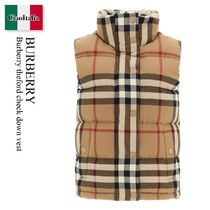 Burberry theford check down vest