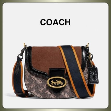 【COACH】Kat Saddle Bag 20 With Horse And Carriage