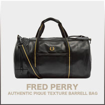 FRED PERRY(フレッドペリー) ボストンバッグ [FRED PERRY] PIQUE TEXTURE BARRELL BAG (送料関税無料)