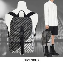【GIVENCHY】チェーンモチーフ ブラックナイロン バックパック