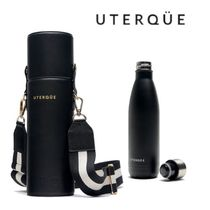 Uterque(ウテルケ) タンブラー 【Uterque】LEATHER THERMAL BOTTLE WITH BAG