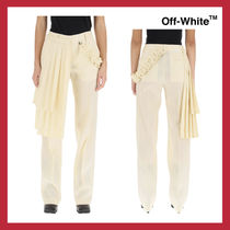 VIP価格【Off-White】TROUSERS WITH PLEATED PANEL 関税込