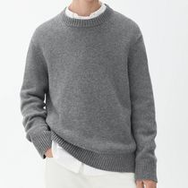 "ARKET(アーケット) ニット・セーター ""ARKET MEN"" Heavy Knit Wool Jumper Gray"