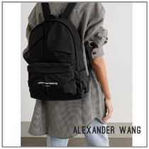 ALEXANDER WANG Wangsport ruched ロゴ ブラック バックパック