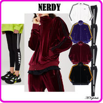 [NERDY] ★ Velvet Track Top+Side Line Leggings Set ★ 4色
