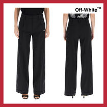 VIP価格【Off-White】LOOSE TROUSERS WITH LOGO BANDS 関税込