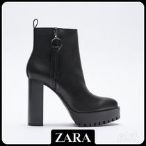 ★ZARA★ HIGH-HEEL ANKLE BOOTS WITH TRACK SOLES