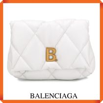 BALENCIAGA TOUCH PUFFY LEATHER CLUCTH