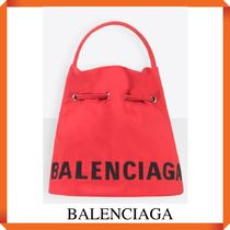 BALENCIAGA WHEEL XS BUCKET BAG WITH COULISSE