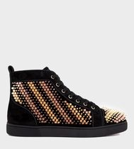 CHRISTIAN LOUBOUTIN  Galvalouis spike-embellished  trainers