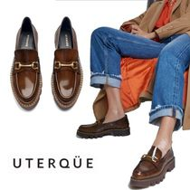 【Uterque】CHAIN BIT TRACK-SOLE LOAFERS WITH A GLOSSY FINISH