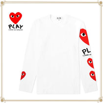 PLAY COMME des GARCONS(プレイコムデギャルソン) Tシャツ・カットソー 関送込★PLAY COMME des GARCONS★大人気コットン袖ロゴTシャツ