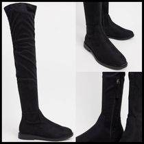 ASOS DESIGN Petite Kennedy flat over the knee boots