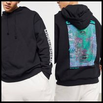 ASOS DESIGN hoodie with reflective multi placement prints