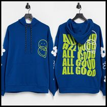 ASOS DESIGN hoodie with flecked drawcords and face logo