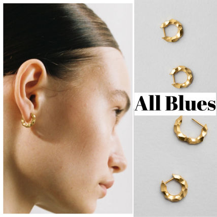 《All Blues》Almost earrings thin カーブ ゴールドピアス ペア