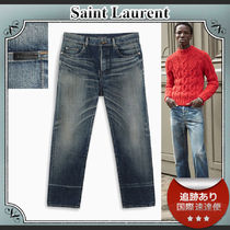SALE!!送料込≪Saint Laurent≫ Ripped effect ジーンズ ブルー