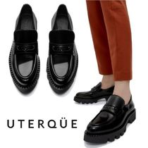 Uterque(ウテルケ) ローファー・オックスフォード 【Uterque】TRACK-SOLE LOAFERS WITH A GLOSSY FINISH