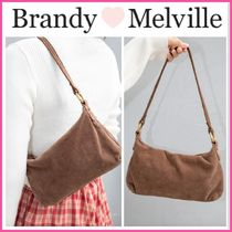 新作♪☆Brandy Melville☆ BROWN CORDUROY PURSE