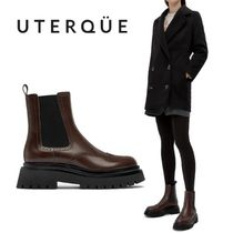 【Uterque】FLAT TRACK-SOLE ANKLE BOOTS WITH BROGUING