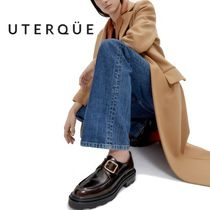【Uterque】BUCKLED MONK SHOES WITH A GLOSSY FINISH