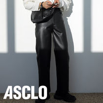 ASCLO(エジュクロ) パンツ ND Minimal Wide Leather Pants (Black)