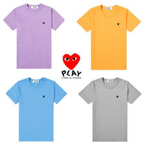 PLAY COMME des GARCONS(プレイコムデギャルソン) Tシャツ・カットソー 関送込★PLAY COMME des GARCONS★大人気アップリケロゴTシャツ