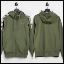 Nike Repeat Pack logo taping fleece hoodie