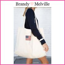 2021Cruise新作♪☆Brandy Melville☆ FLAG TOTE BAG