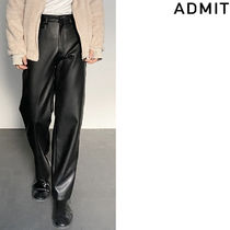 ADMIT(アドミット)★ Wide-fit Leather Trousers
