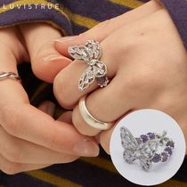 LUV IS TRUE★韓国★日本未入荷★PO BUTTERFLY RING(PURPLE)指輪