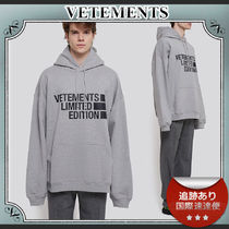 21SS/送料込≪VETEMENTS≫ Limited Edition ロゴ パーカー