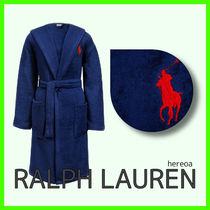 送料関税込!RALPH LAUREN HOME Player Bathrobe - Navy