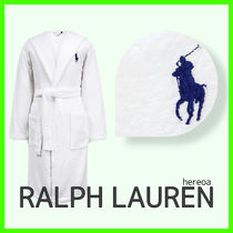 送料関税込!RALPH LAUREN HOME Player Bathrobe - White