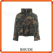 Rhude Camouflage Jacket With Logo Patch