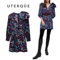 【Uterque】DRESS WITH FLOWER DETAIL