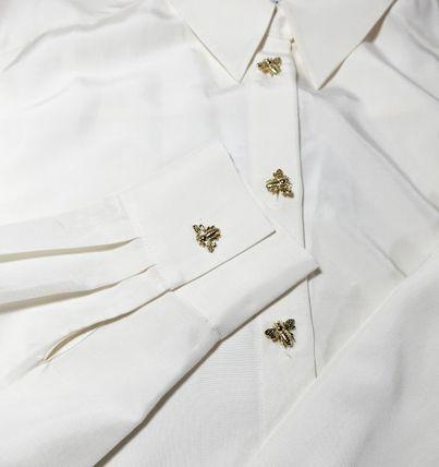 """""""& Other Stories"""" Relaxed Bee Button Shirt White"""