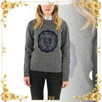 ☆SEAL☆embroidered crew-neck sweater