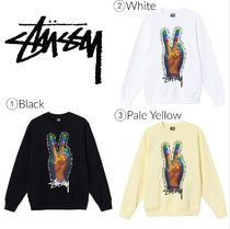 【STUSSY】☆新作☆スウェット☆STUSSY PEACE SIGN CREW