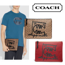 SALE【Coach】 Pouch 30 With Rexy シグネチャー クラッチ iPad