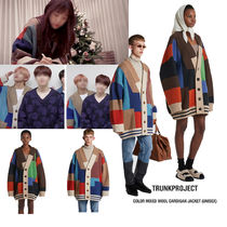 TRUNK PROJECT(トランク プロジェクト) カーディガン TRUNK PROJECT★Color Mixed Wool Cardigan Jacket BTS v 着用♪