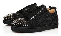 CHRISTIAN LOUBOUTIN  Louis Junior Orlato glittered trainers