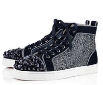 CHRISTIAN LOUBOUTIN  Lou Mix spiked suede high-top trainers