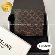CELINE TRIOMPHE CANVAS BI-FOLD WALLET WITH COIN COMPARTMENT