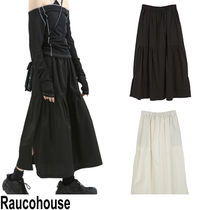 ★RAUCOHOUSE★『日本未入荷 』 Casual shirring Long skirts.