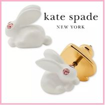 SALE*kate spade* Gold-Tone Pave Bunny Stud Earringsうさぎ