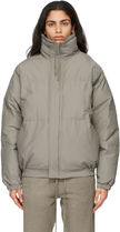 ☆FOD ESSENTIALS Taupe Nylon Puffer Jacket 国内発送 正規品!