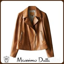 MassimoDutti♪NAPPA LEATHER BIKER JACKET