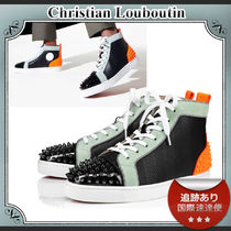 21SS/送料込≪ルブタン≫ Lou Spikes 2 ハイトップスニーカー